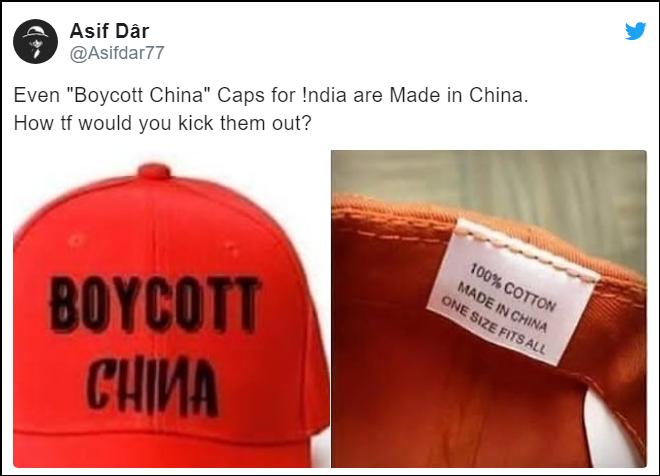 """印度网民疯抢""""抵制中国""""文化衫 一看产地""""Made in China"""""""