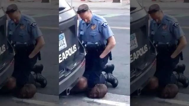 美国明尼苏达州白人警察暴力执法导致非洲裔男子乔治·弗洛伊德死亡