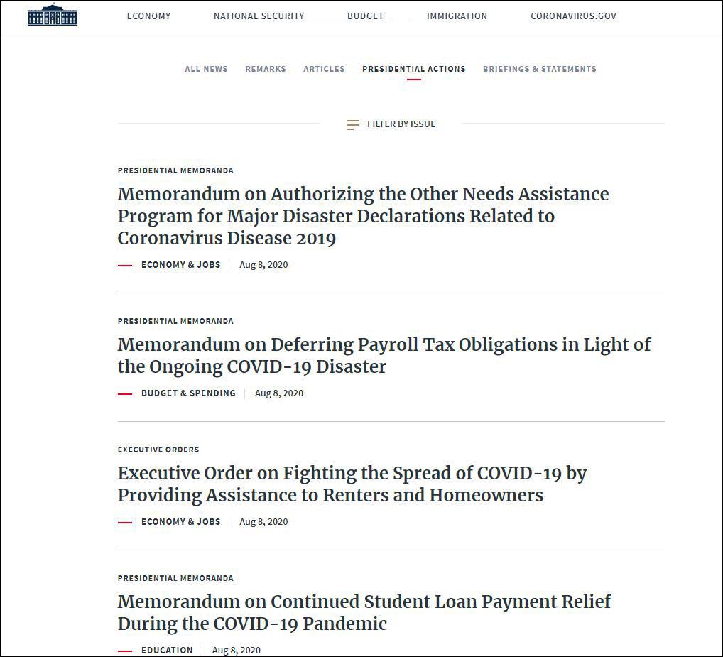 【免费夫妻大片在线看入门】_绕过国会,特朗普一下签署4项纾困措施救经济