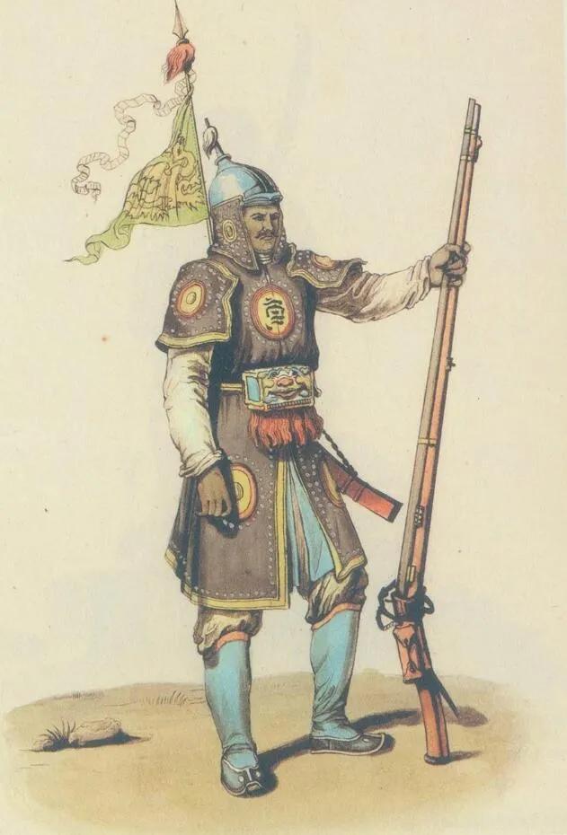 上图_ 1901年法国教科书中的大清军官