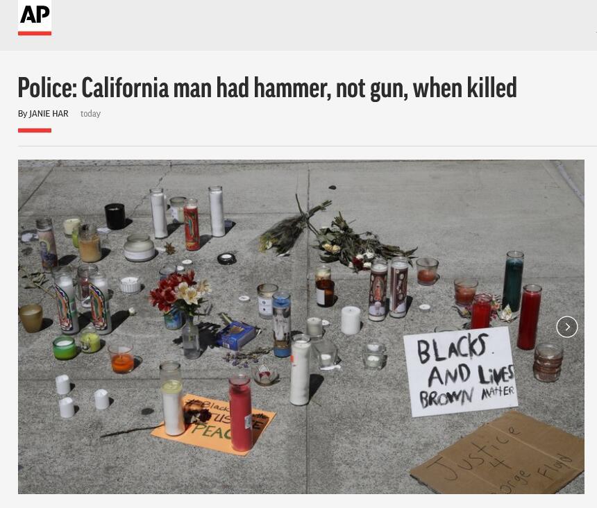 【google关键词工具】_带着锤子被误认作手枪,美国22岁男子跪地时被警察枪杀