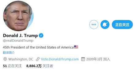 特朗普推特账号