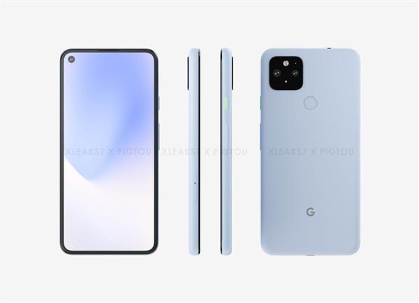 祖传后指纹回归 谷歌Pixel 5曝光:挖孔屏/骁龙7