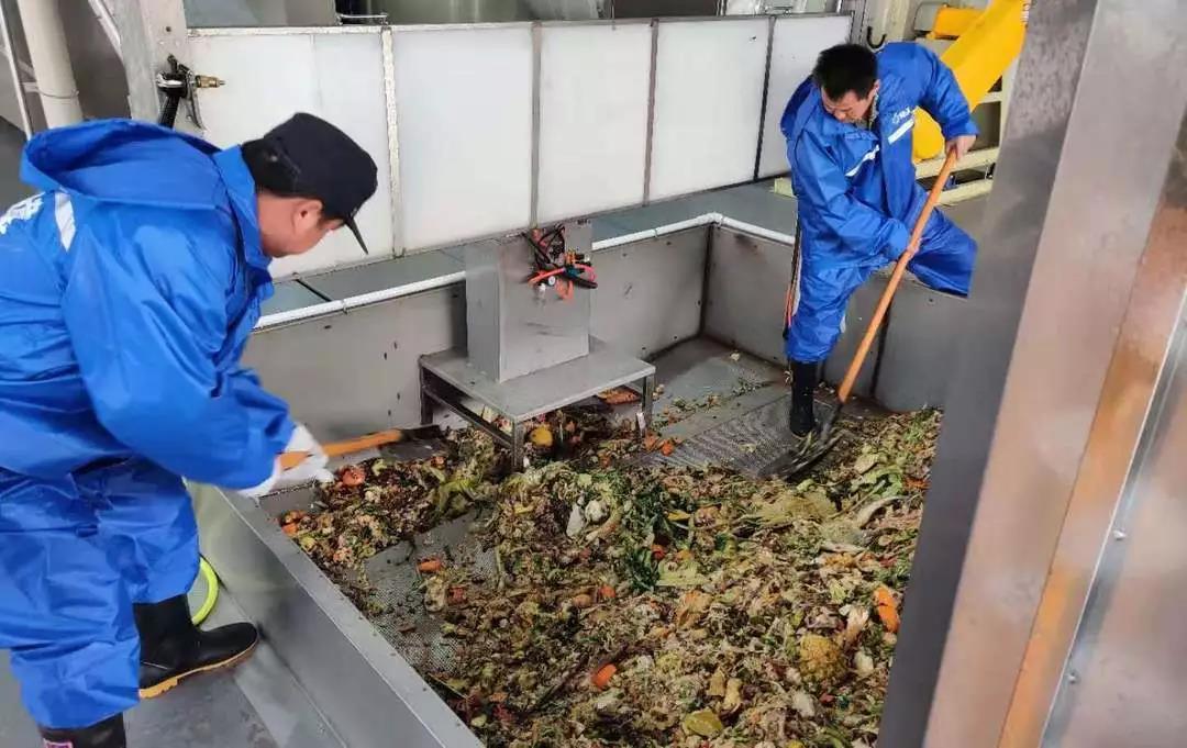 """▲双浦易腐垃圾资源化处置中心承担着西湖区部分餐厨垃圾""""变废为宝""""的工作。图据西湖环境集团官方微信"""