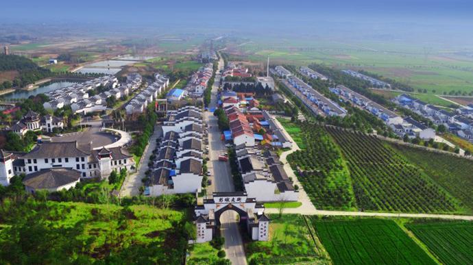 钟祥市石牌镇彭墩村。图片来源于彭墩集团网站