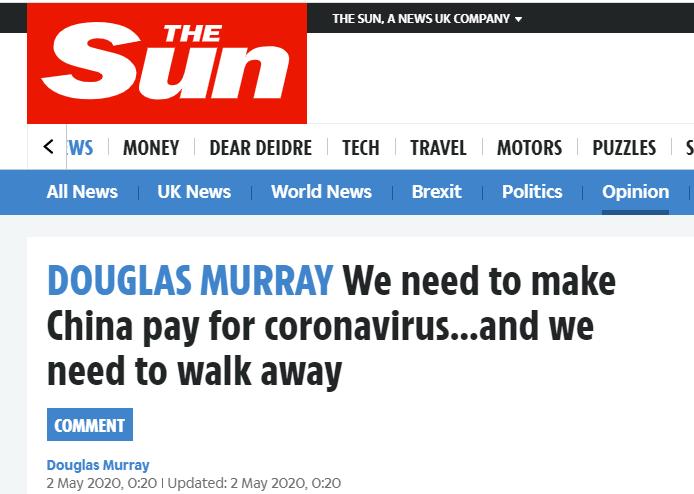 英国知名公知:我们应该派出炮舰,让中国为疫情赔钱-第1张图片-IT新视野
