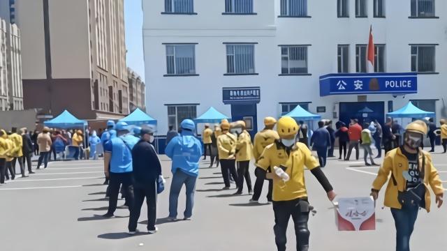 保障骑手和顾客安全,吉林市为2022名外卖员免费做核酸检测(视频)