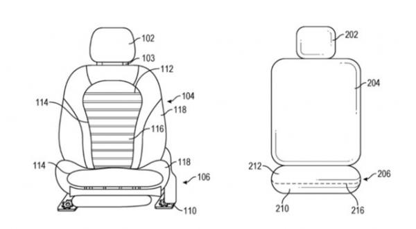 苹果汽车座椅专利:急转时变形掩护乘