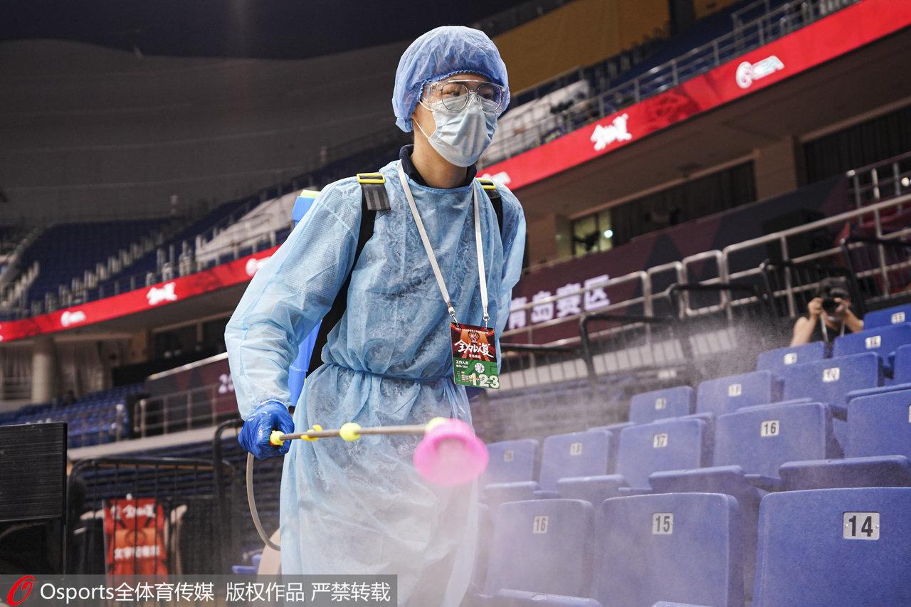 球馆消杀工作。