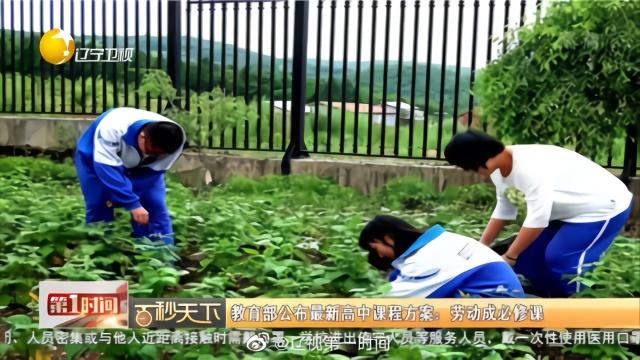 #教育部公布最新高中课程方案#: #劳动成高中必修课#