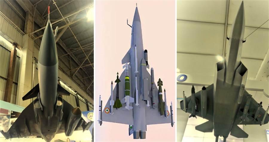 """""""光辉""""MK2(左)、双发舰载战斗机(中)、AMCA战斗机(右)"""