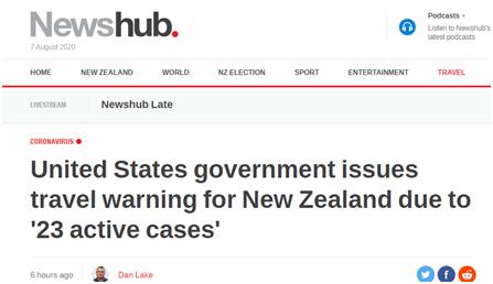 【小学童学习网】_美国对新西兰发旅行警告:称仍有23例新冠活跃病例 网友被逗乐
