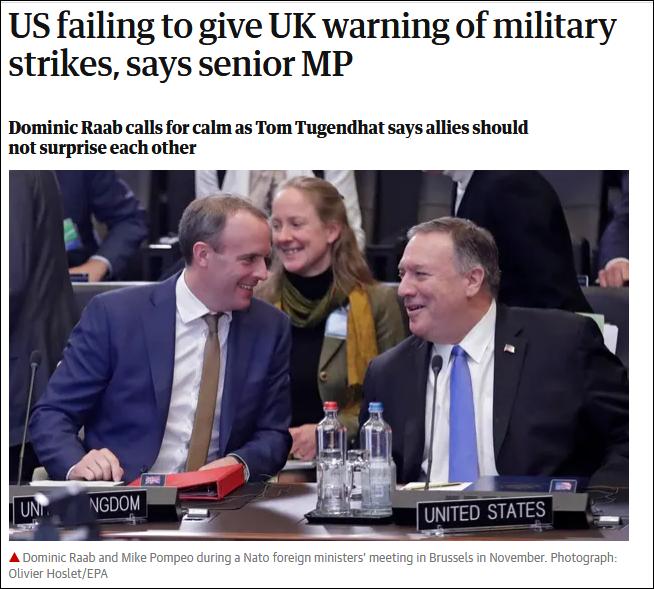 """特朗普政府""""不宣而戰"""",沒被提前知會的英國不爽了"""