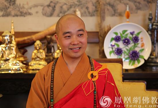 中国佛教协会副会长、成都文殊院方丈宗性法师(图片来源:凤凰网佛教 摄影:李保华)