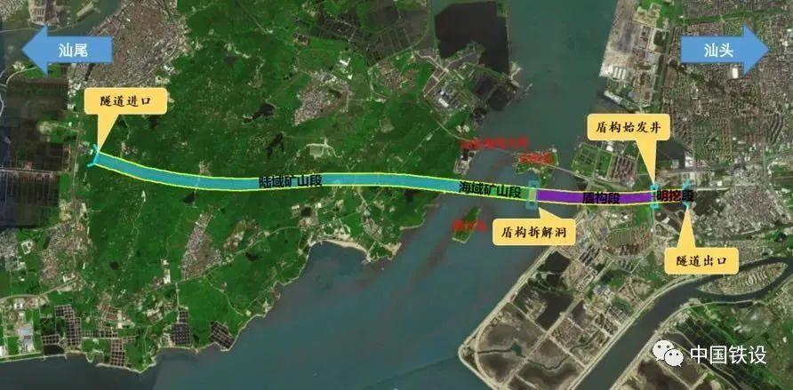 汕头湾海底隧道平面图
