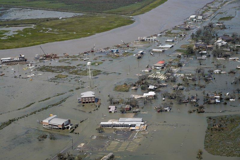 """""""劳拉""""飓风导致路易斯安娜州部分地区受灾"""