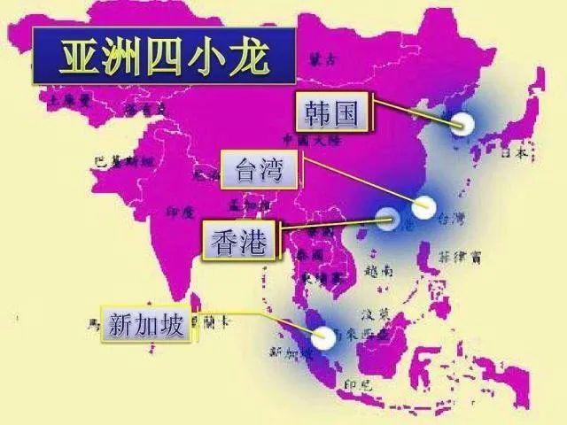 台湾的gdp_亚洲四小龙:韩国、新加坡、中国台湾、中国香港,2019年GDP对比