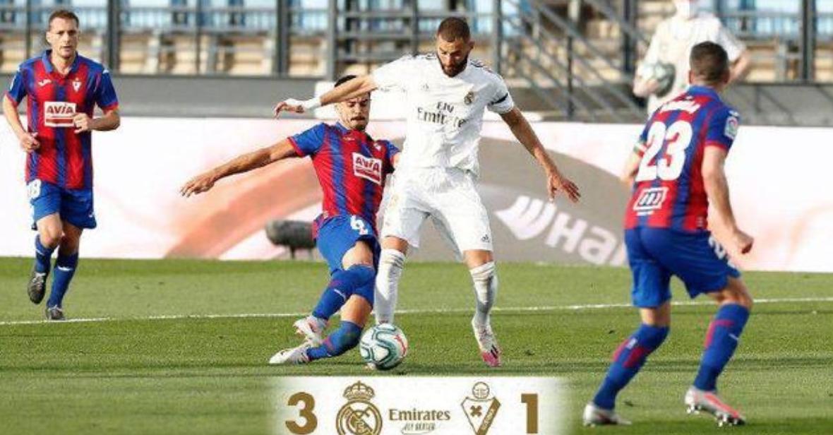 皇马3-1埃瓦尔拉莫斯马塞洛克罗斯建功-