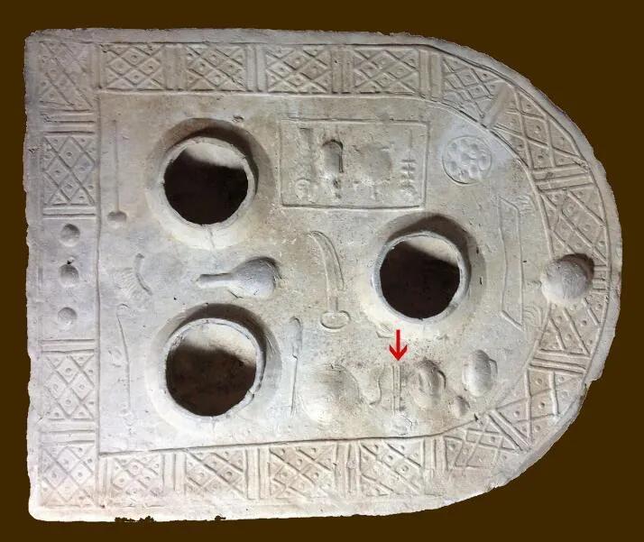 上图_ 古代的汉灶 (红色箭头为自己筷子)