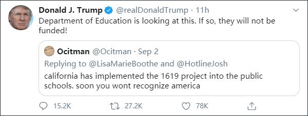 【如何做好网络推广】_美国历史从1619算起?特朗普急了:学校这样教,不给经费