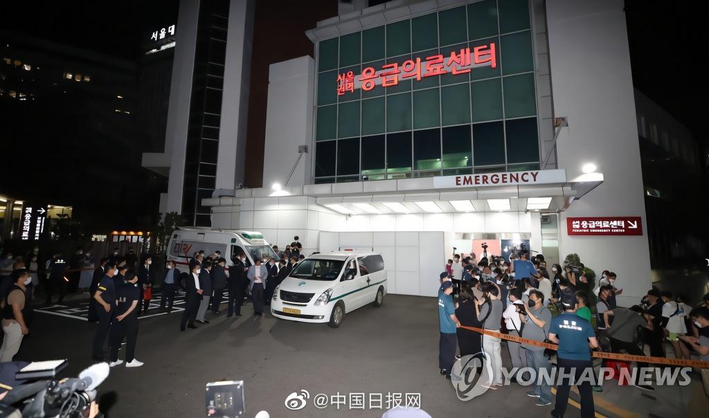 【奏鸣网】_韩国总统文在寅将敬送花圈吊唁已故首尔市长朴元淳