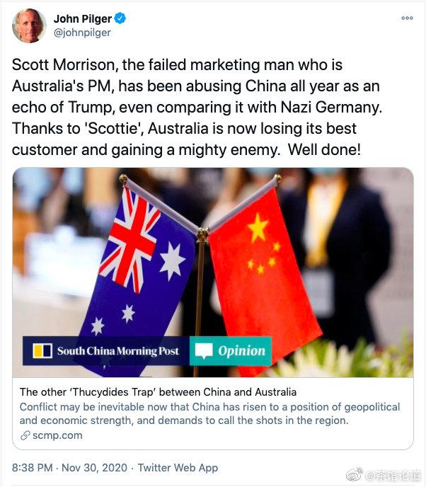 """摩登5娱乐_澳大利亚著名记者喊话莫里森:""""你可真棒"""""""