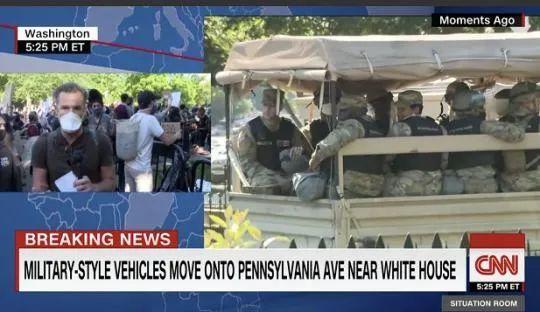 据CNN报道,三名美国国防部官员表示,美国正向首都华盛顿哥伦比亚特区部署现役军人,规模在200到250人。