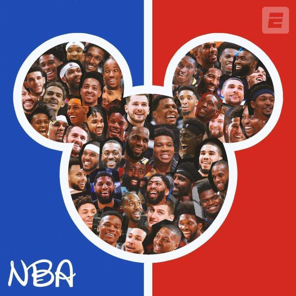 "NBA在迪士尼的""泡泡""中打完了本赛季。"