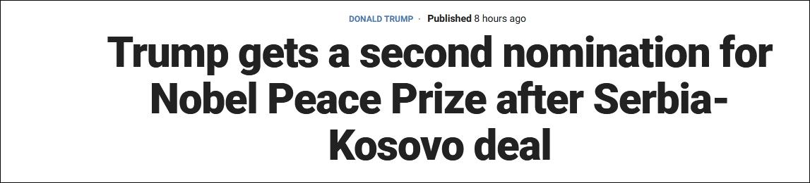 【外链群发工具】_一周被两次提名诺贝尔和平奖,特朗普转推:没人能做到