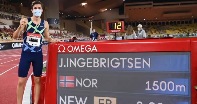 3分28秒68!19岁田径中跑新星1500米夺亚军 打破法拉赫欧洲纪录
