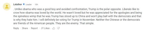 特朗普声称中国将阻止他连任后 美国网友反应集锦