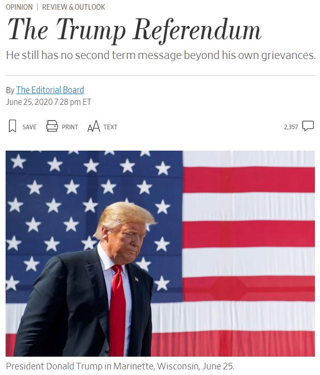 """""""川普正在拖垮共和党"""" 美国最大保守派媒体社论训斥总统"""