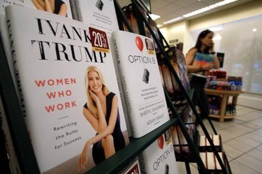 伊万卡·特朗普的书《工作的女性:重写成功规则》。图片:AFP