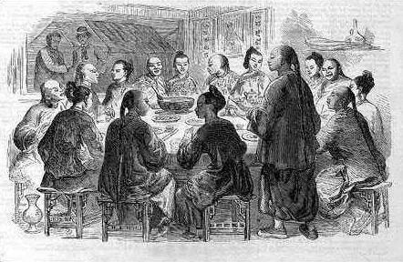 上图_ 在茶楼边喝茶边聊股票的百姓