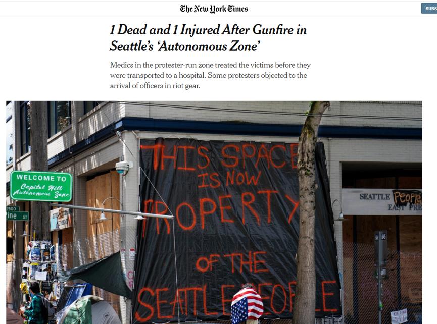"""美国三大城市正式成为""""无政"""