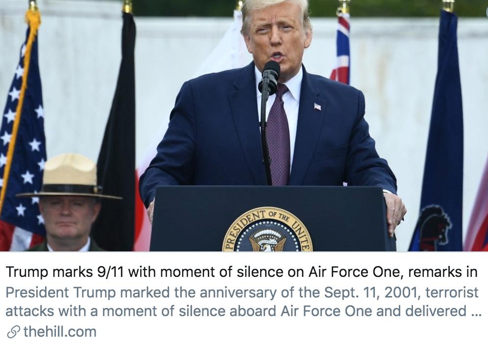 """【电子商务快猫网址】_疫情中的""""911""""纪念日:特朗普不忘吹嘘政绩,拜登与彭斯罕见问好"""