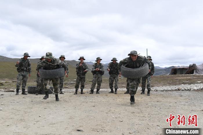 日常基础训练。中国人民解放军77635部队 供图