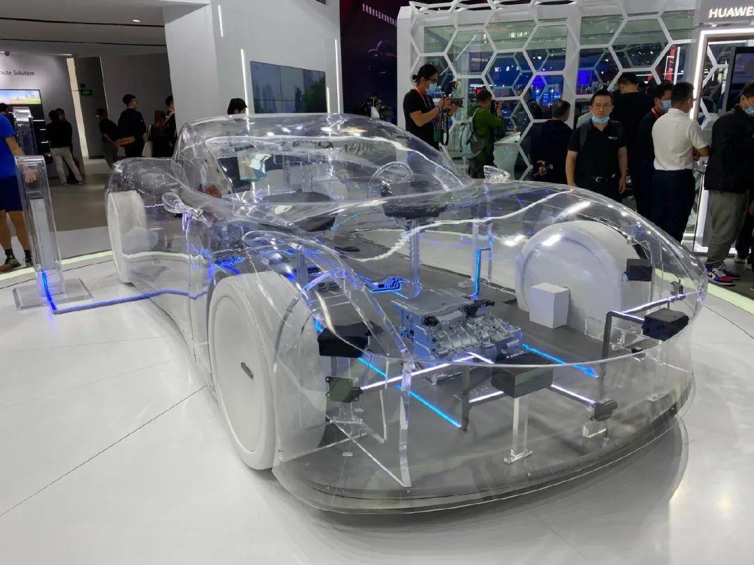 华为在北京车展上公布的透明汽车