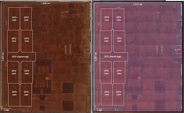 苹果A12Z和A12X处理器裸片对比:A12X是最大的7nm芯片之一 两者本质完全相同