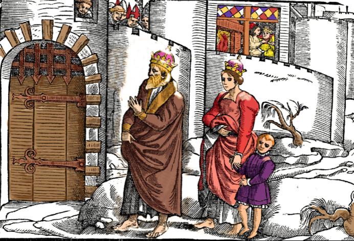 亨利四世带着全家向教皇格里高利道歉