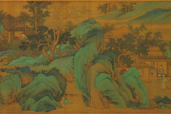 明 仇英 《长夏江村图》卷(局部) 台北故宫博物院藏