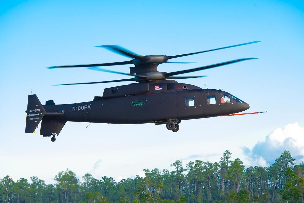 美国下一代直升机SB-1创新纪录 最高时速达430千米