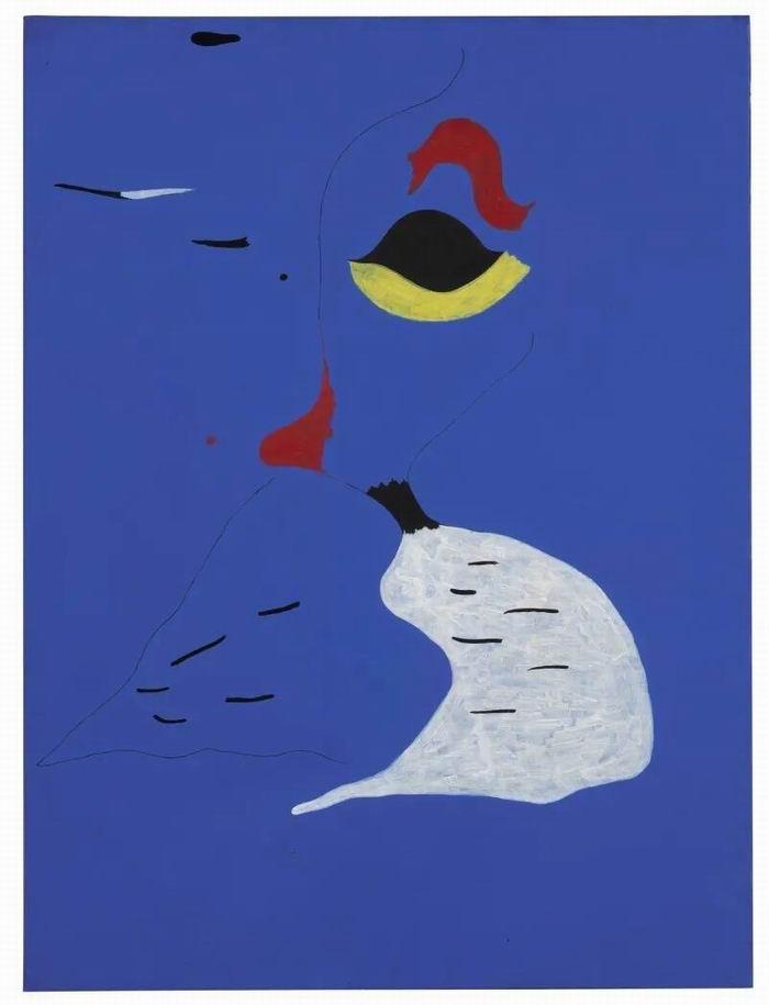 胡安·米罗《绘画(红帽女子)》