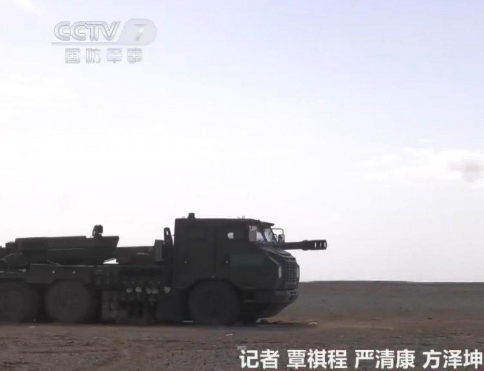"""国产155车载炮服役后实弹首秀!展示""""大炮上刺刀"""""""