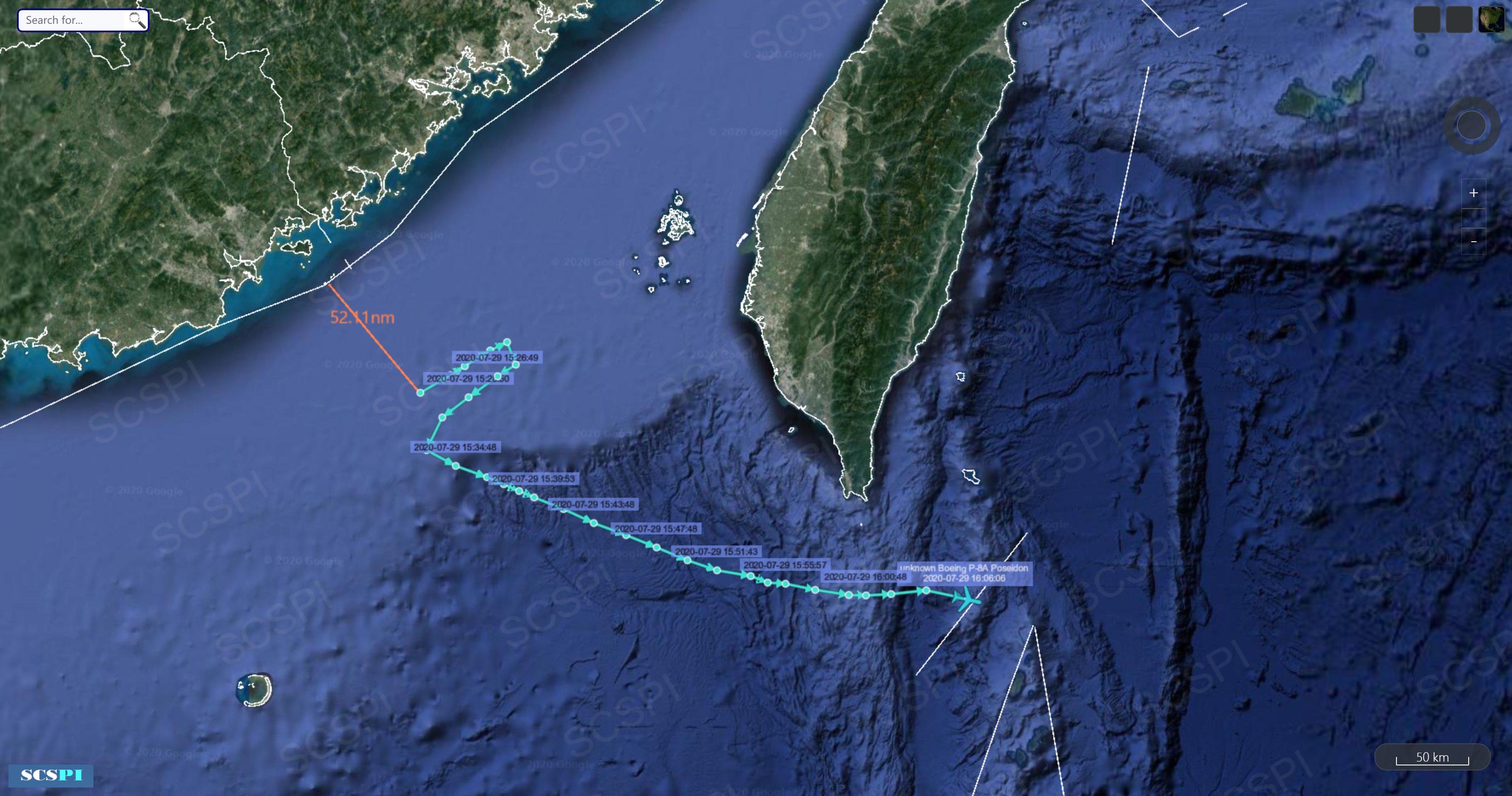 美军机又飞到我家门口 距广东仅96.5公里(图)