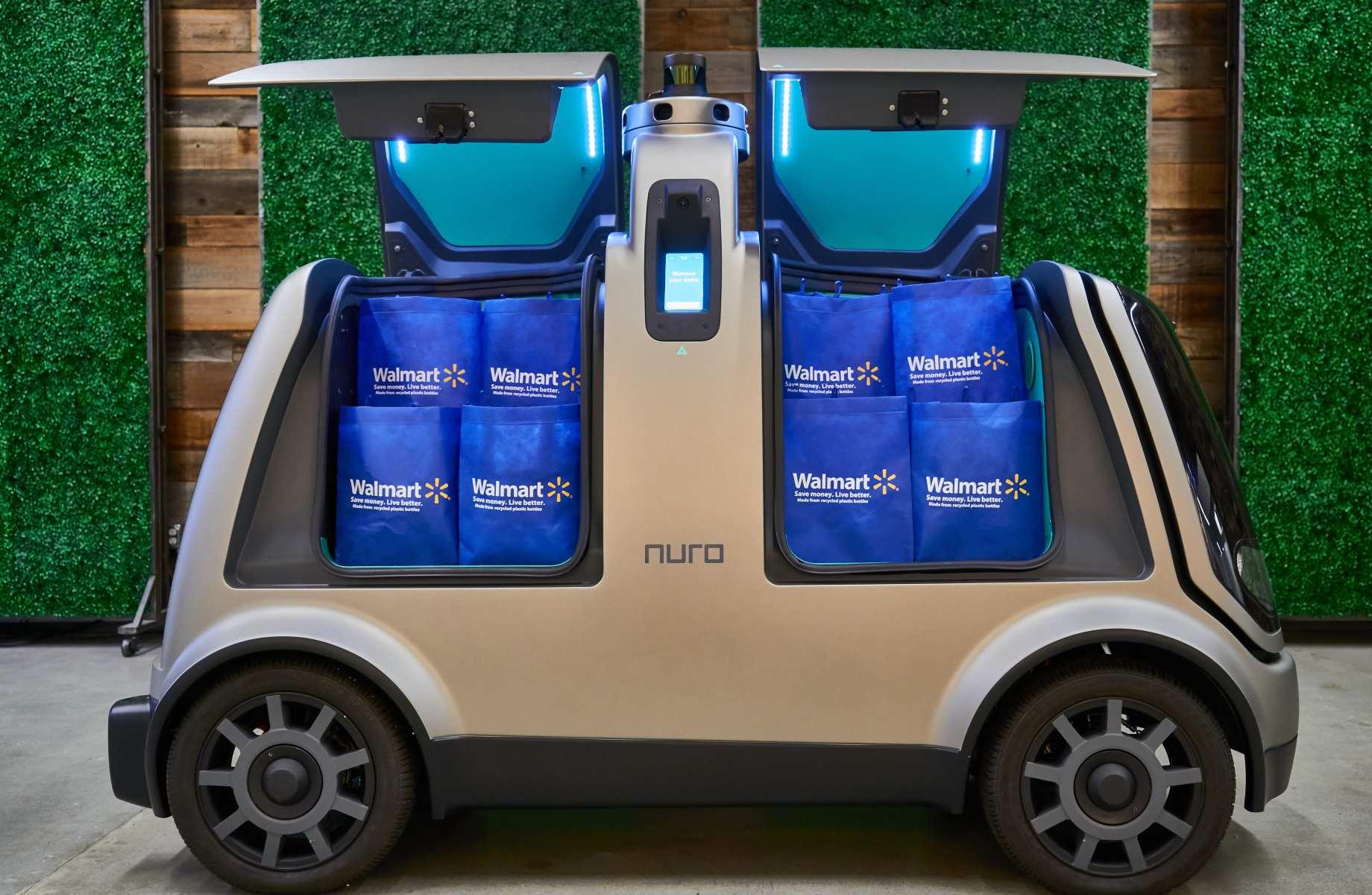 软银投资的自动驾驶公司Nuro开始上门送药,并为沃尔玛等大型超市配送杂货商品