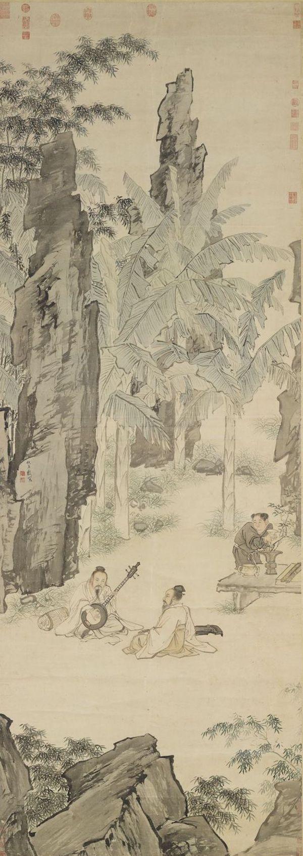 明 仇英 《蕉阴结夏图》 台北故宫博物院藏