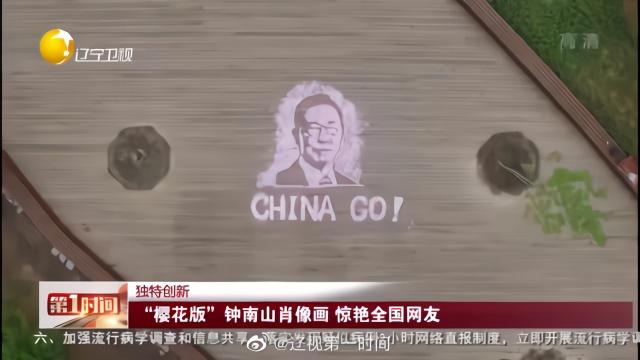 """""""樱花版""""钟南山肖像画 惊艳全国网友"""