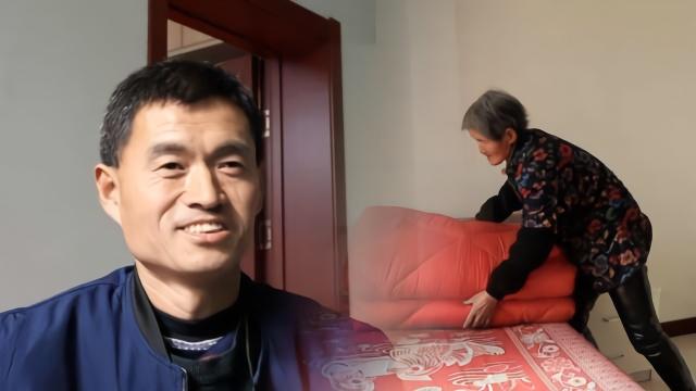 儿45岁仍单身,77岁母亲做好5床婚被