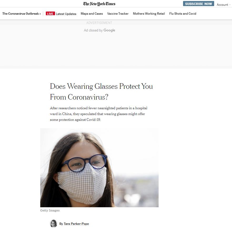 【网站收录入口】_江西援鄂医疗队研究成果:佩戴眼镜可降低感染新冠肺炎几率